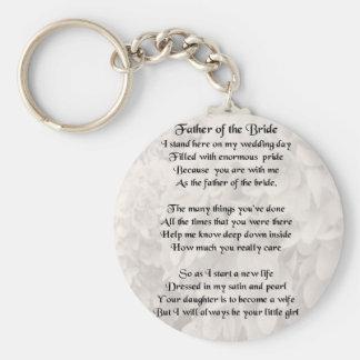 Vater der Braut - Weiß Schlüsselanhänger