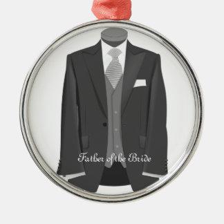 Vater der silbernes ornament