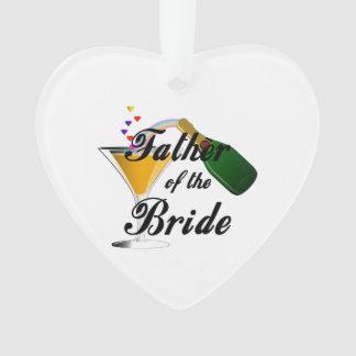 Vater des Braut-Champagne-Toasts Ornament