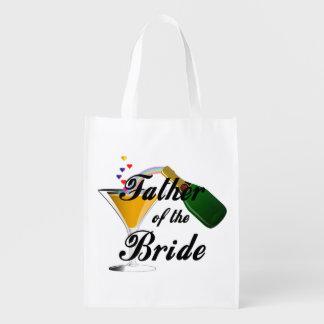 Vater des Braut-Champagne-Toasts Wiederverwendbare Einkaufstasche