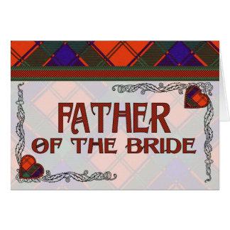 Vater des Braut-EinladungRobertsonTartan Karte