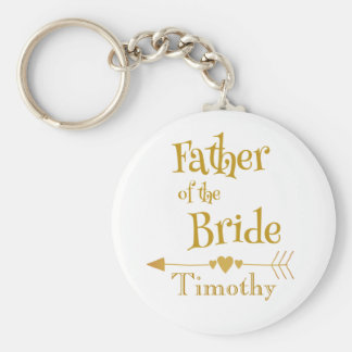 Vater des Braut-Hochzeits-Andenkens Schlüsselanhänger