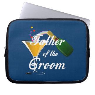 Vater des Bräutigam-Champagne-Toasts Laptop Sleeve