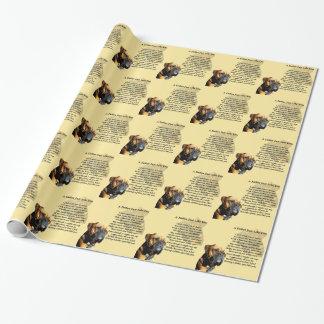 Vater-Gedicht - Boxer-Hundeentwurf Geschenkpapier