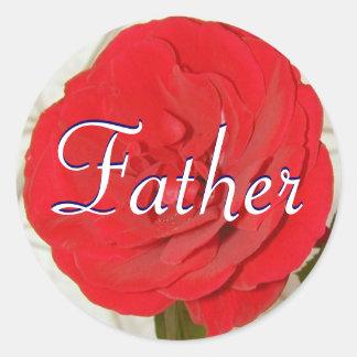 Vater-Rosen-Aufkleber Runder Aufkleber