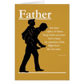 Vater-Sohn-Grußkarte Karte