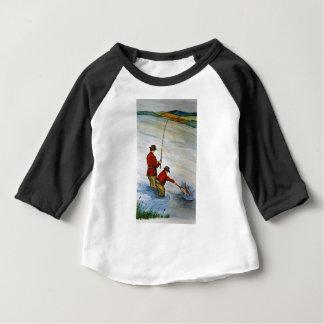 Vater- und Sohn-Angelausflug Baby T-shirt