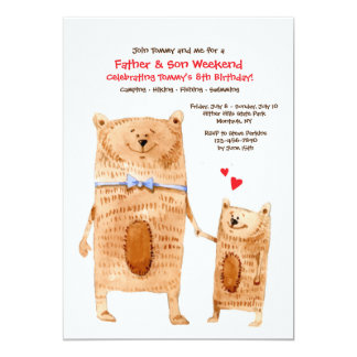 Vater-und Sohn-Bärn-Einladung Karte