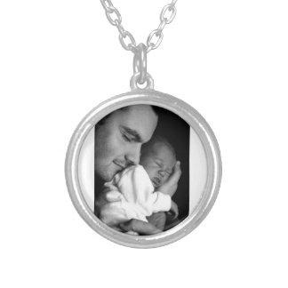 Vater und Sohn Halskette Mit Rundem Anhänger