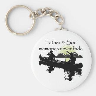 Vater und Sohn Standard Runder Schlüsselanhänger