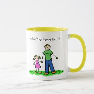 Vater-und Tochter-blonde Tasse (fertigen Sie