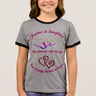 Vater und Tochter Ringer T-Shirt