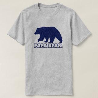 Vater-Vati-Bär Blau-Goldmoderner T - Shirt