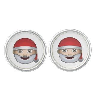 Vater-Weihnachten Emoji Manschettenknöpfe