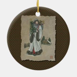 Vater-Weihnachten u. Spielwaren Keramik Ornament