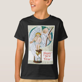 Vater-Zeit-Baby-neues JahrHourglass T-Shirt