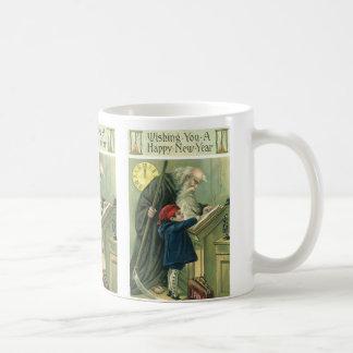 Vater-Zeit, die Ihnen ein guten Rutsch ins Neue Kaffeetasse