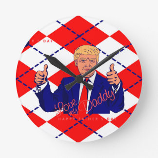 Vatertag Donald Trump Runde Wanduhr