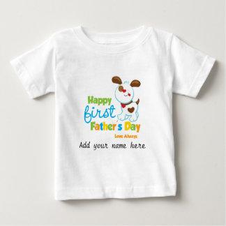 Vatertag Hündchen-der glückliche erste Baby T-shirt
