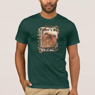 Vatertag - Steintatzen - Brüssel Griffon T-Shirt