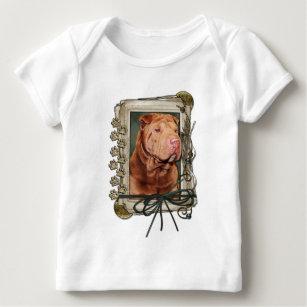 Vatertag - Steintatzen - Shar Pei - glücklich Baby T-Shirt