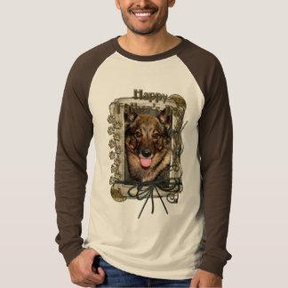 Vatertag - Steintatzen - Vallhund T-Shirt