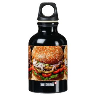 vatertags-Hamburgercheeseburger Grillvorlagen Wasserflasche