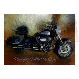 Vatertagskarte mit Harley Motorrad Karte