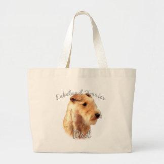 Vati 2 Lakelands Terrier Jumbo Stoffbeutel