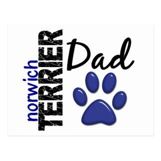 Vati 2 Norwichs Terrier Postkarte