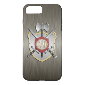 Vati adelt Kampf-Wappen-Rüstung iPhone 8 Plus/7 Plus Hülle