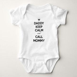 Vati behalten ruhige und Anruf-Mama Baby Strampler