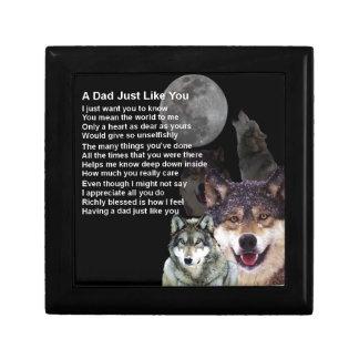 Vati-Gedicht - Wolf-Entwurf Geschenkbox