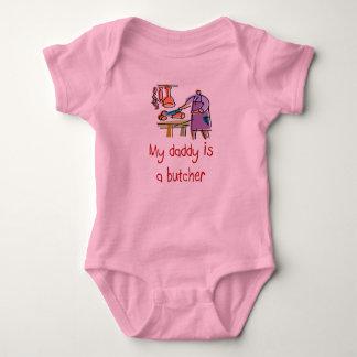 Vati ist ein Metzger-Baby-T - Shirt