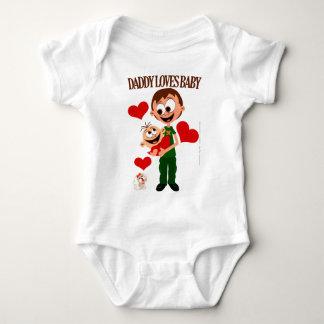 Vati-Liebe-Baby - Baby-Körper 01 - Weiß Baby Strampler