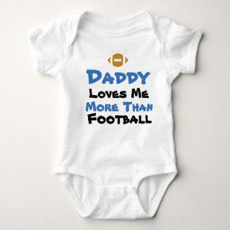 Vati-Lieben ich mehr als Fußball-Baby-Bodysuit Baby Strampler