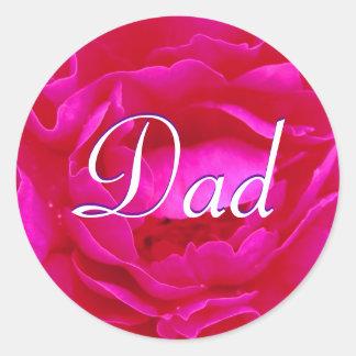 Vati-rosa Rosen-Aufkleber Runder Aufkleber