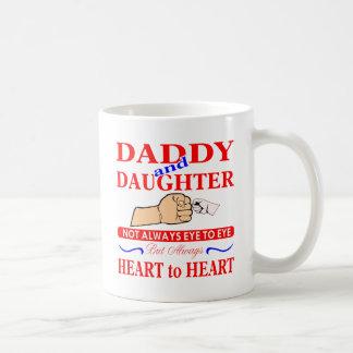 Vati-u. Tochter-nicht immer Auge zum zu mustern Kaffeetasse