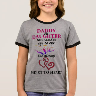 Vati und Tochter Ringer T-Shirt