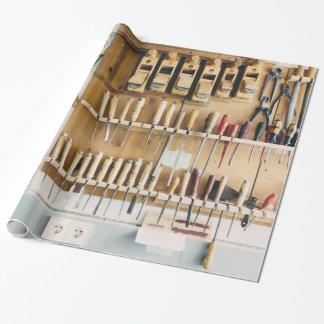 Vati-Vatertag Enthusiast der Werkzeuge DIY Geschenkpapier