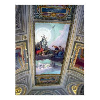 Vatikan-Museums-Decke in Rom, Italien Postkarte