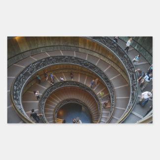 Vatikan-Museums-Wendeltreppe Rechteckiger Aufkleber