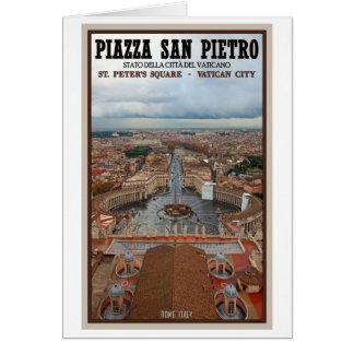 Vatikanstadt - Ansicht von St Peter Basilika Karte