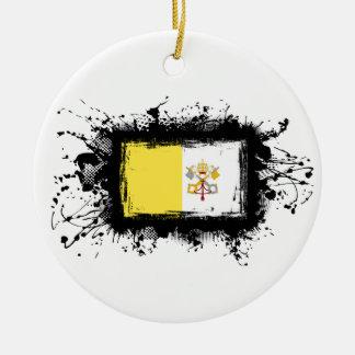 Vatikanstadt-Flagge Keramik Ornament