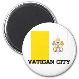 Vatikanstadt-Flagge Runder Magnet 5,7 Cm