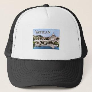 Vatikanstadt gesehen vom Tiber-Flusstext Truckerkappe