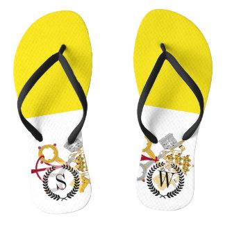 Vatikanstadtflagge Flip Flops