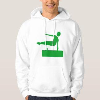 Vaulting-Zahl - Gras-Grün Hoodie