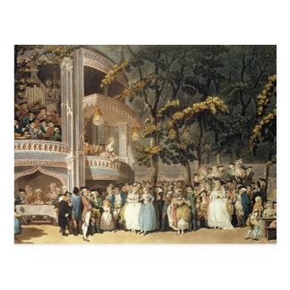 Vauxhall-Gärten von Ackermanns Postkarte