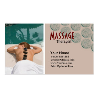 Vectored Visitenkarte Damen-Massage Therapy